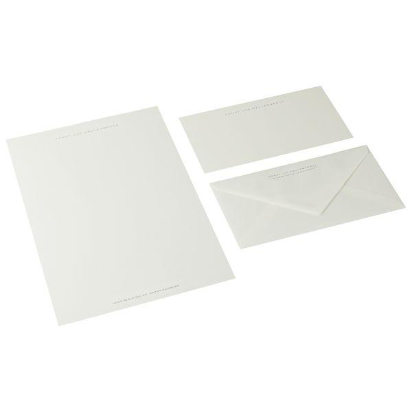 Briefpapier Miniformat, Grau/Schwarz
