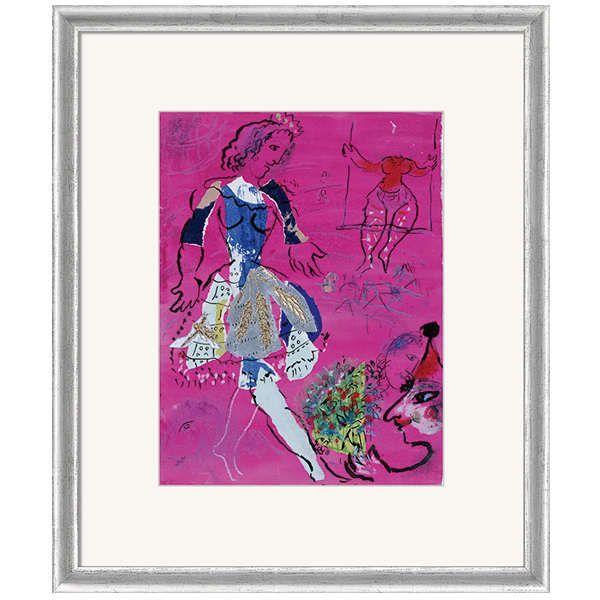 Chagall, Marc: »Tänzerin vor malvenfarbigem Hintergrund«