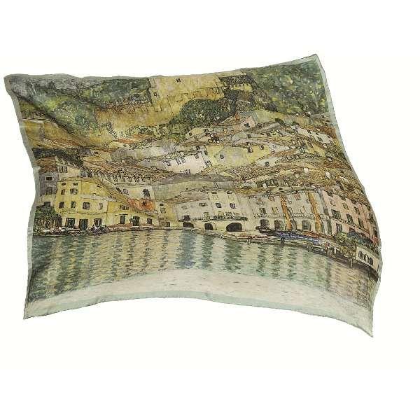 Seidentuch »Malcesine sul Garda«, nach Gustav Klimt