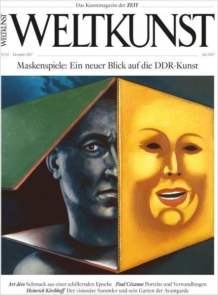 WELTKUNST 137/17 Maskenspiele: Ein neuer Blick auf die DDR-Kunst