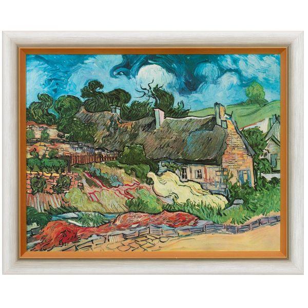 van Gogh, Vincent: »Strohgedeckte Häuser in Cordeville«, 1890