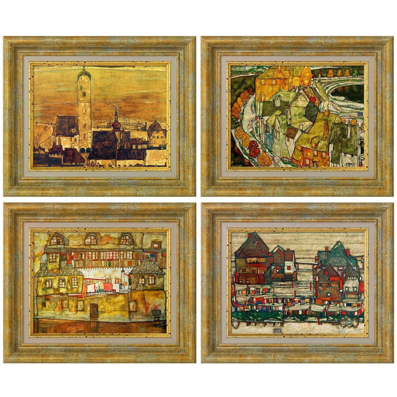 Schiele, Egon: Vier Bilder im Set, 1913-15   Kunstdrucke   Kunst ...