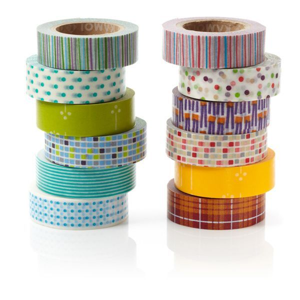 Japanisches Papierklebeband »Akai«, 6er-Set