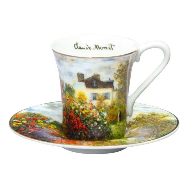 Espressotassen 4-teiliges Set, nach Claude Monet