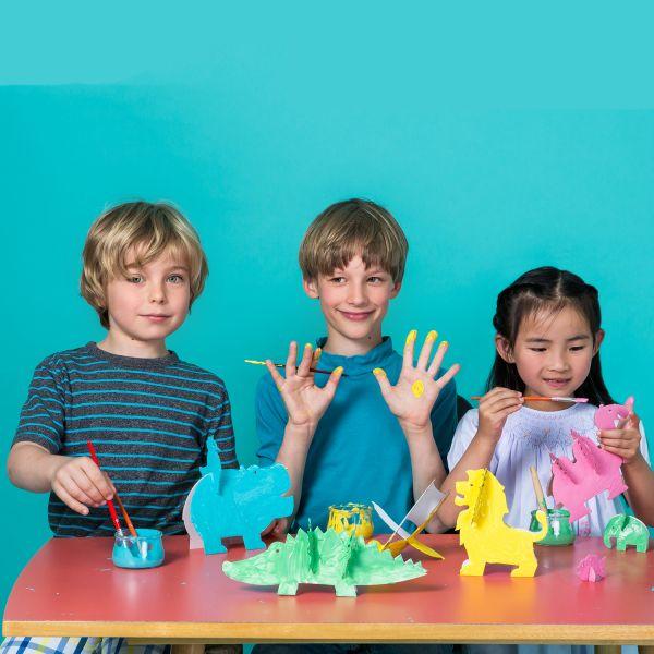 Pappfiguren und Zaubermaler im Set