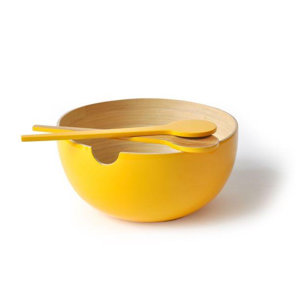 Salatbesteck Miro, Gelb gelb
