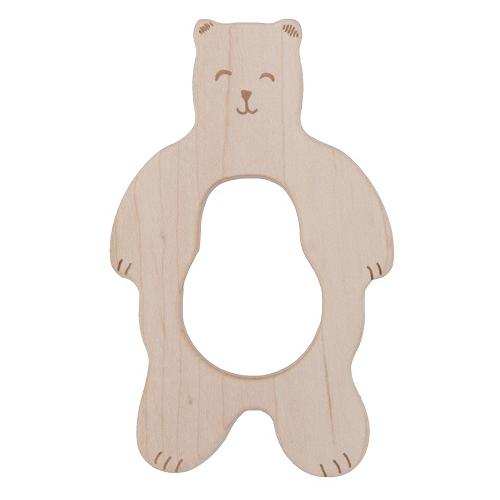 Beißring Bär aus unbehandeltem Ahorn