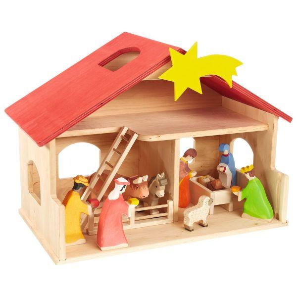 Spielzeug-Bauernhof oder -Krippe