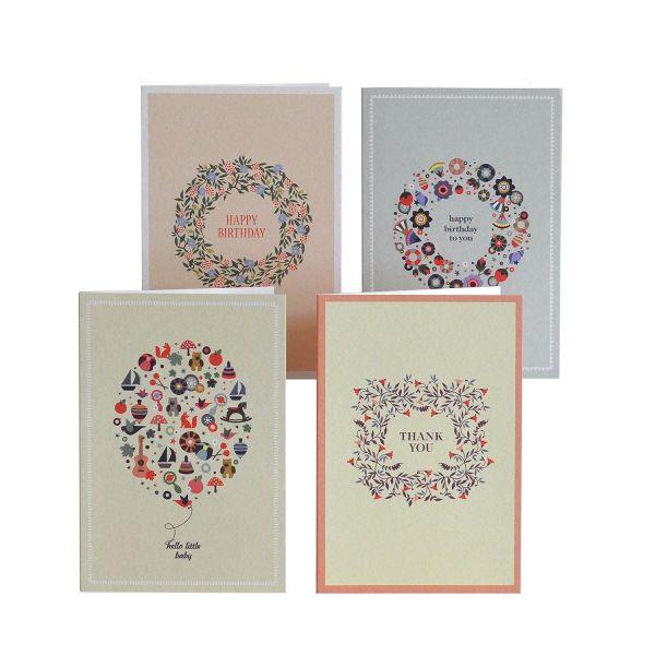 Grußkarten-Set »Geburt und Geburtstage«