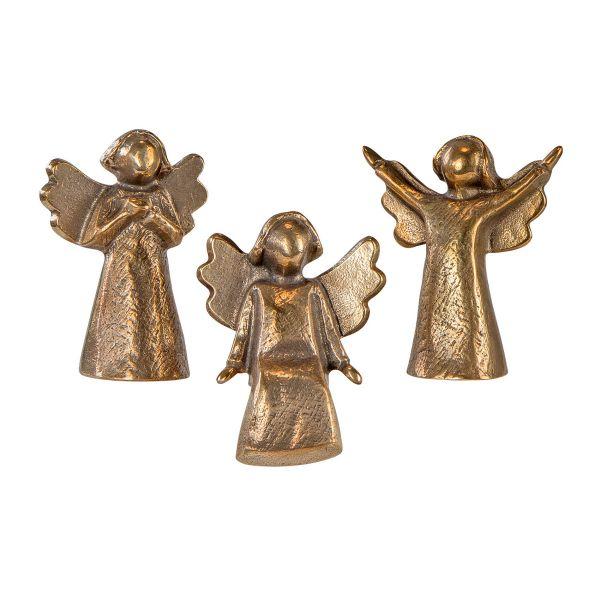 Stark, Kerstin: 3-teiliges Miniatur-Skulpturenset »Bronzeengel«