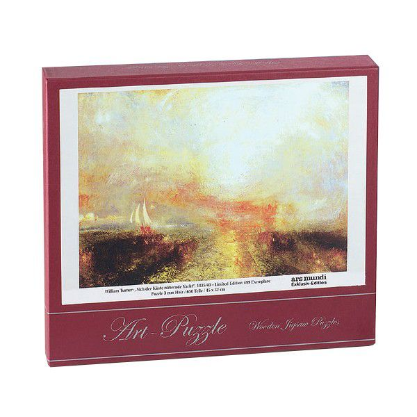 Turner, William: Viktorianisches Holzpuzzle »Sich der Küste nähernde Yacht«