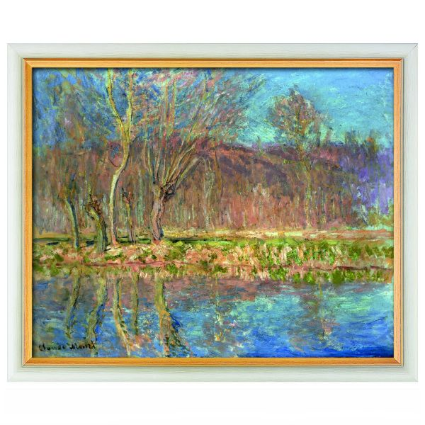 Monet, Claude: »Bäume am Ufer, Frühling in Giverny«, 1885