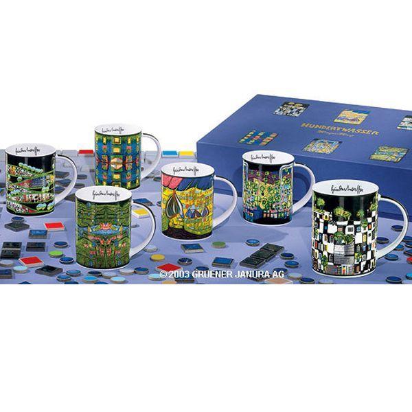 Magic Mugs 6er Set, nach Friedensreich Hundertwasser