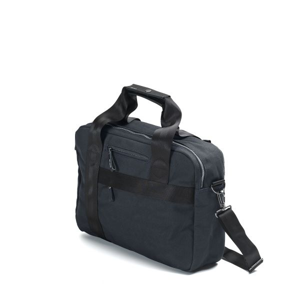 Office Bag aus Canvas Dunkelblau
