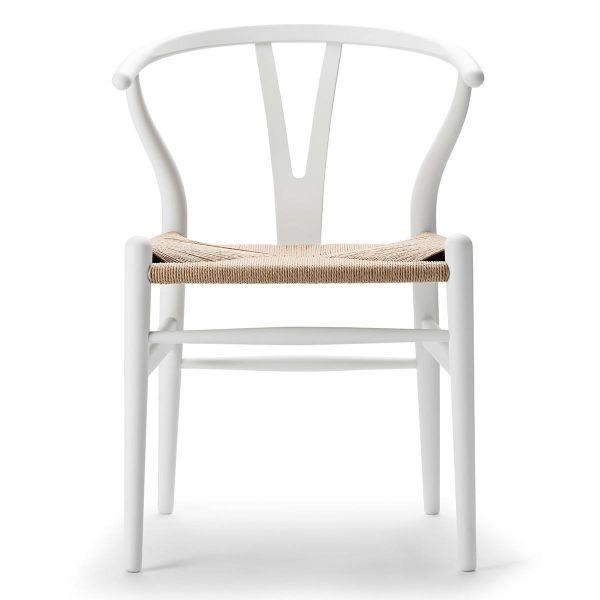 Sonderedition »Stuhl CH 24 Soft« von Carl Hansen Weiß