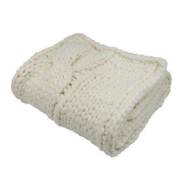 Decke »Fluf«, mit Zopfmuster