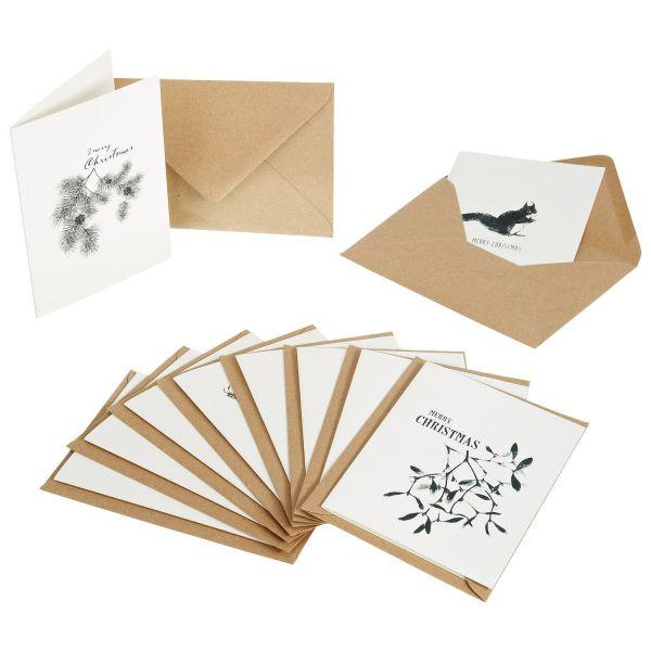 Weihnachtsgrußkarten 10er-Set