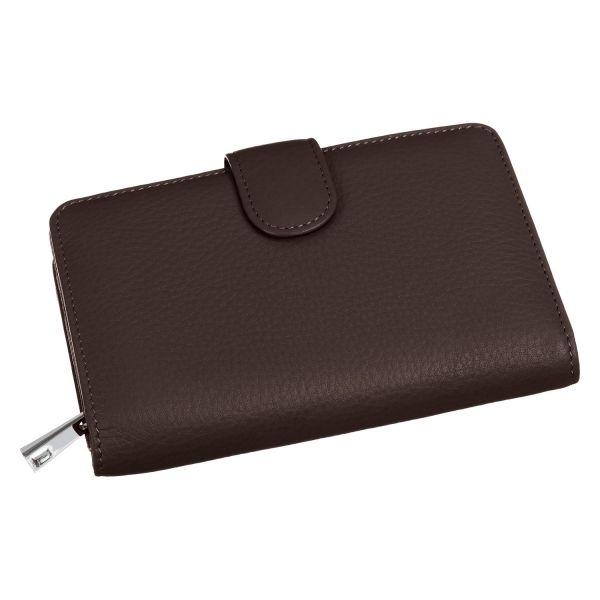 Geldbörse mit Druckknopfverschluss und Zip