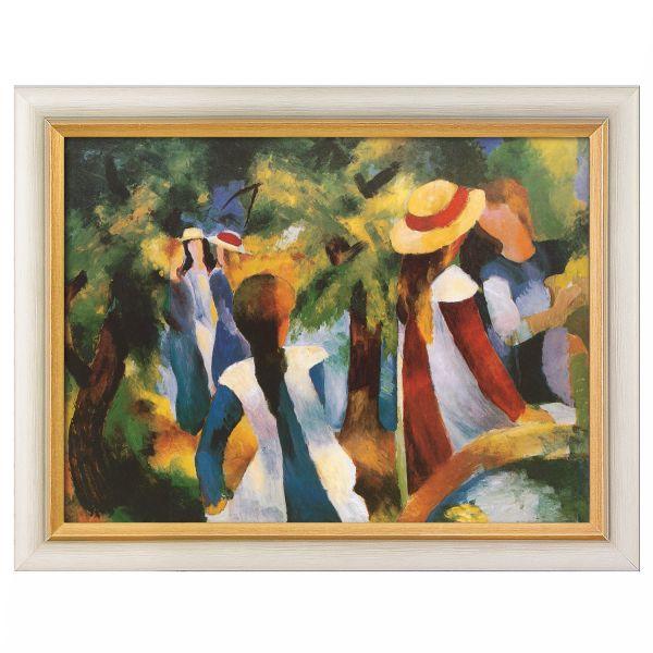 Macke, August: »Mädchen unter Bäumen«, 1914