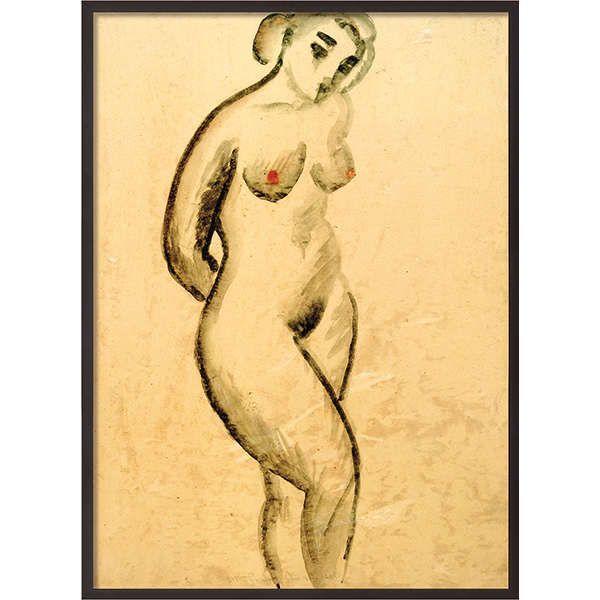 Macke, August : »Weiblicher Akt, stehend«, 1913