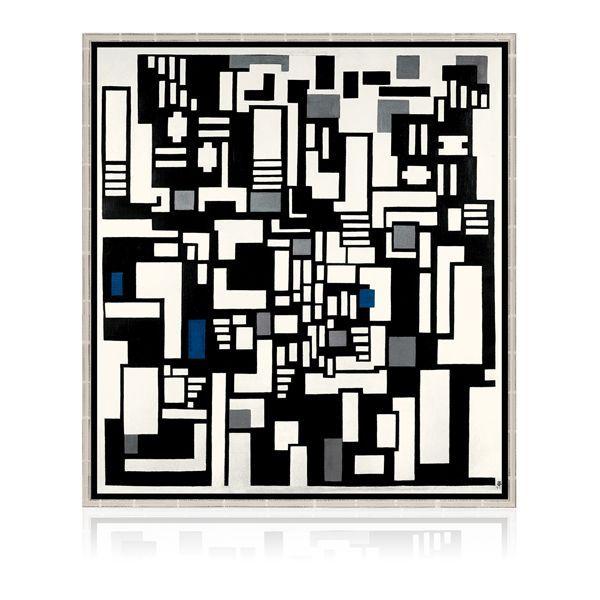 van Doesburg, Theo: »Komposition IX, Opus 18 (Abstraktion der Kartenspieler)«