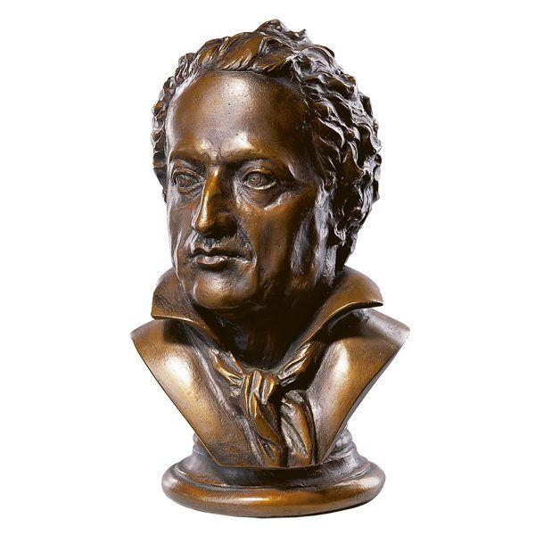 Goethe-Büste in Kunstbronze
