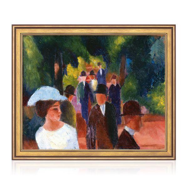 Macke, August: »Promenade (mit weißem Mädchen in Halbfigur)« (1914)