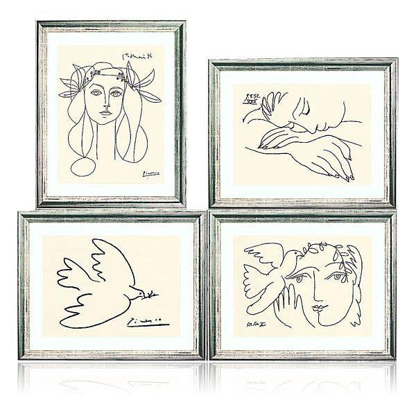 Picasso, Pablo: Vier weltberühmte Zeichnungen
