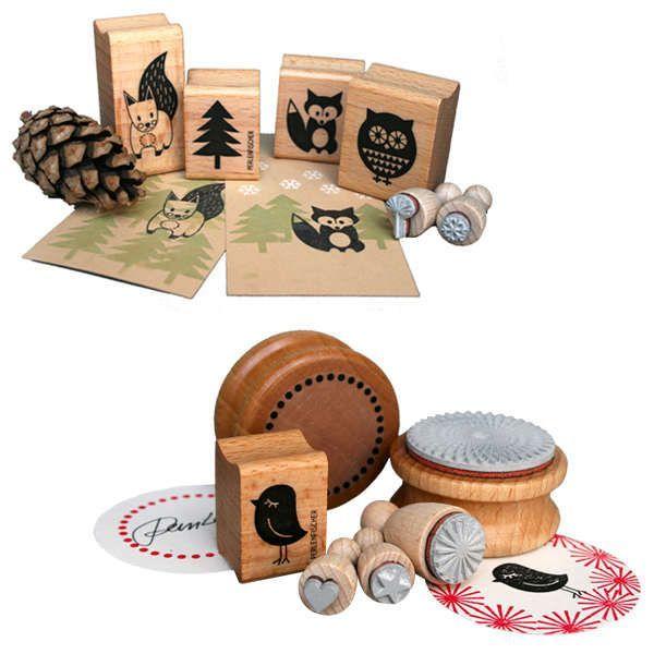Stempelsets »Waldspaziergang« und »Formenvielfalt«