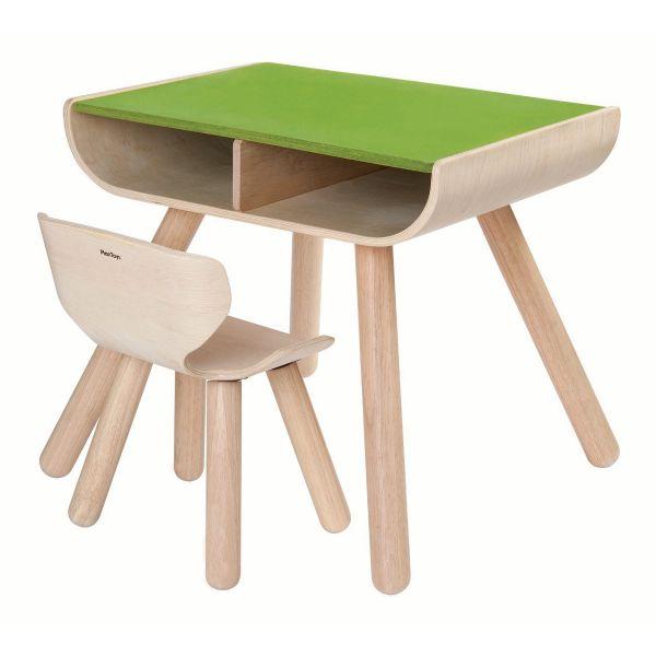 Tisch mit Stuhl grün