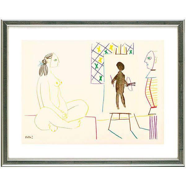 Picasso, Pablo: »Maler und Modell ›3.2.54 I‹«, 1954