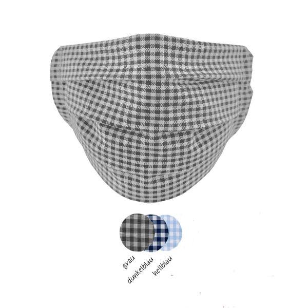 3er Set Masken Basic »Karo«