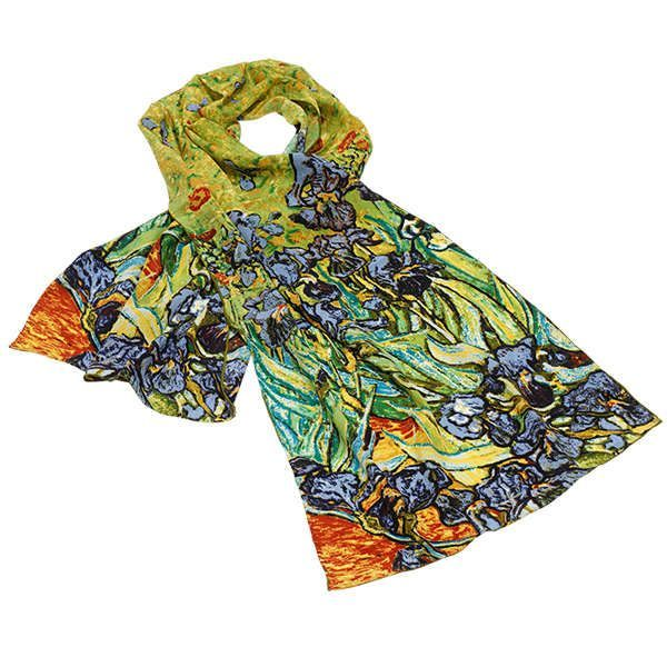 Seidenschal »Iris« nach Vincent van Gogh