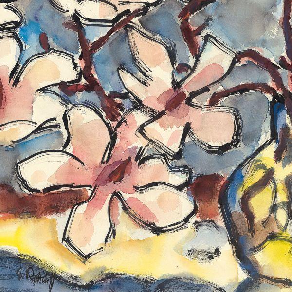Karl Schmidt-Rottluff »Magnolienzweig«, 1969