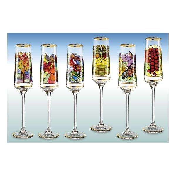 Sammler-Edition »Champagnerkelche« nach Louis C. Tiffany