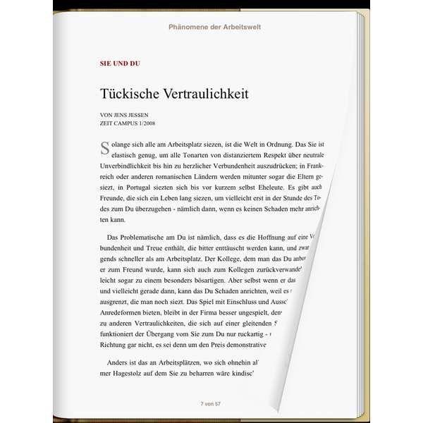 »Phänomene der Arbeitswelt«