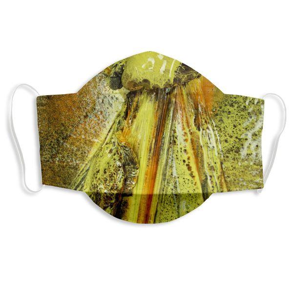Weltkunstwelt-Maske von Katharina Grosse