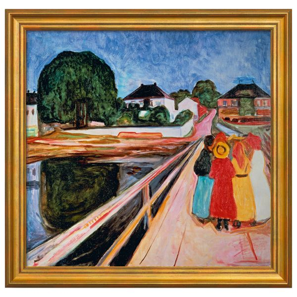Munch, Edvard: »Mädchengruppe auf einer Brücke«, 1902