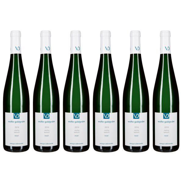 Wolfer Goldgrube, Riesling Kabinett, 2016 (6 Flaschen)