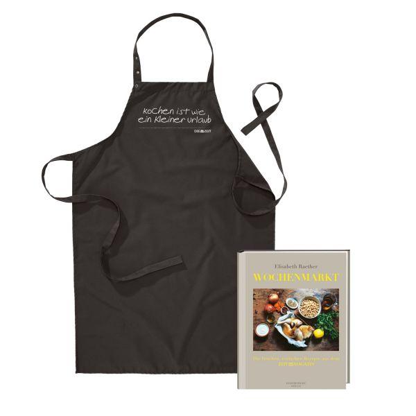 ZEIT-Kochschürze und Kochbuch »Wochenmarkt« im Set