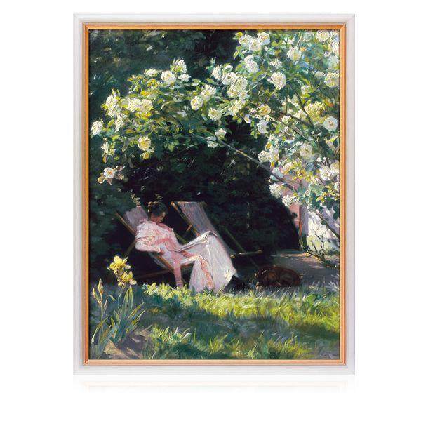 Krøyer, Peder Severin: »Unter dem Rosenbusch«