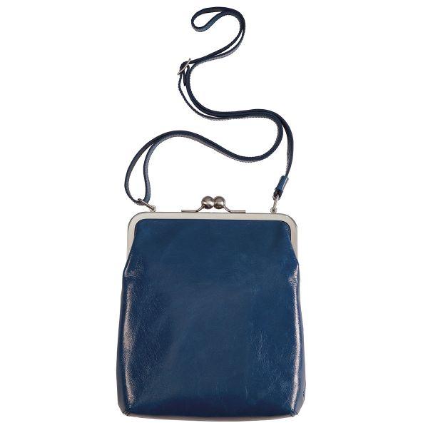 Bügeltasche »Lola« von Volker Lang Vintage blau / bordeaux