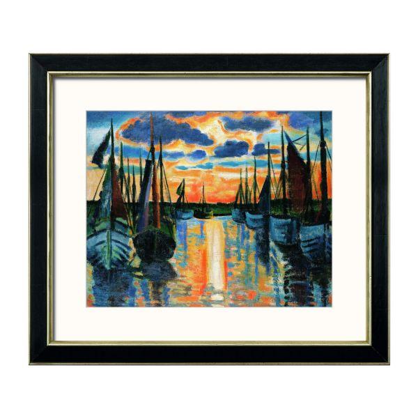 Pechstein, Max: »Sonnenuntergang Leba Hafen«, 1926