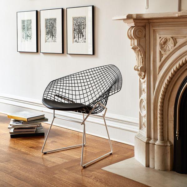 ZEIT-Sonderedition »Bertoia Diamond Sessel« von Knoll International Diamond Sessel mit schwarzem Sitzkissen